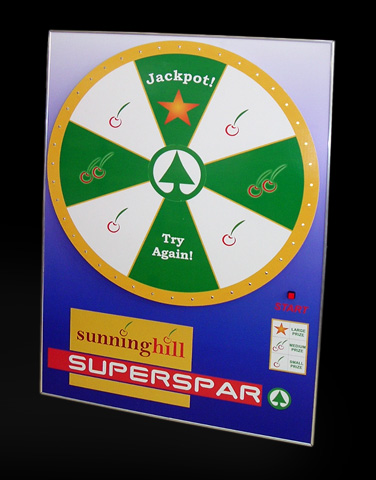 Spar Win & Spin: Size A1, 8 segments, 5 lights/segment.